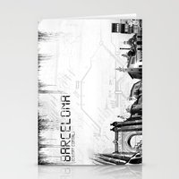 barcelona Stationery Cards featuring Barcelona by Yan-k