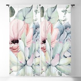 Pretty Succulents 2 by Nature Magick Blackout Curtain
