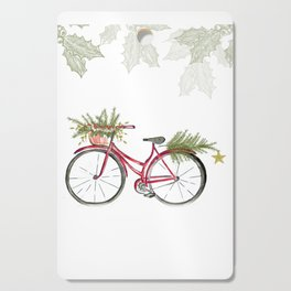 Red Christmas bicycle Cutting Board