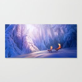 Fox play Canvas Print