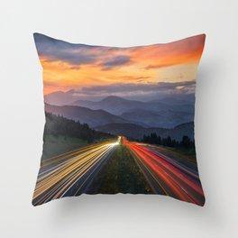 I-70 Traffic Throw Pillow