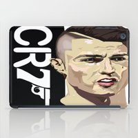 ronaldo iPad Cases featuring Cristiano Ronaldo 007 by Mackenzie Mauro