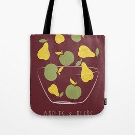 Apples and Peers red Tote Bag