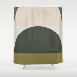 Contemporary Composition 14 Shower Curtain