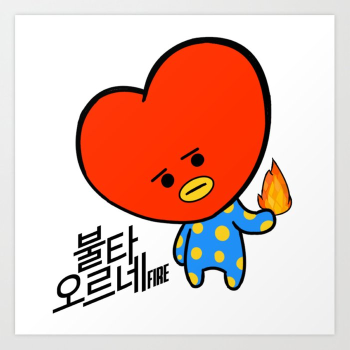 Bt21 Tata Art Print By Alienitynera Society6