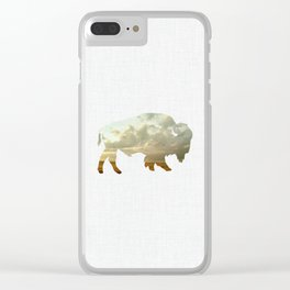 Bison and Plains Clear iPhone Case
