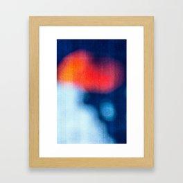 BLUR / burning ice Framed Art Print