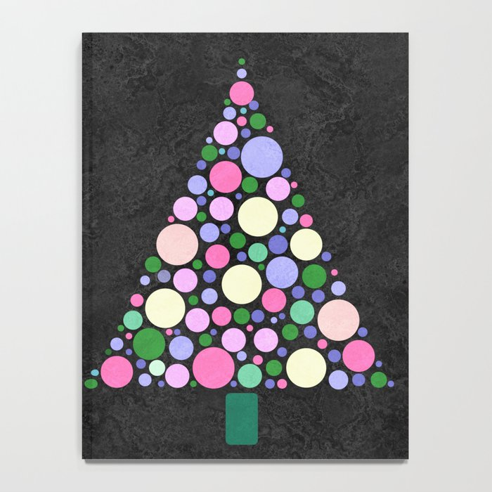 Christmas Tree Marble Notebook