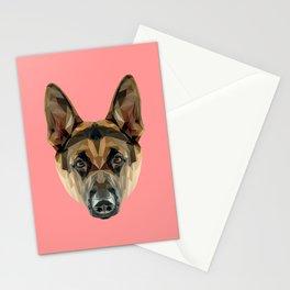 German Shepherd // Pink Stationery Cards