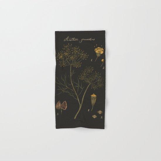Dill (Dark Background) Hand & Bath Towel