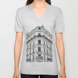 Parisian Facade Unisex V-Neck