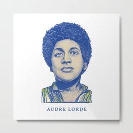 Audre Lorde Metal Print