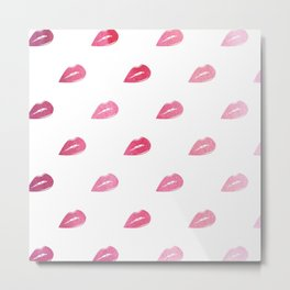 Lip Service  |  Ombre Watercolor Lips Metal Print