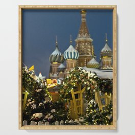 Moscow in Christmas, Russia Serving Tray