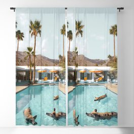 Pig Poolside Party Blackout Curtain