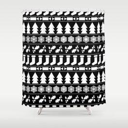 White Christmas Shower Curtain