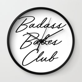 Badass Babes Club 2 Wall Clock