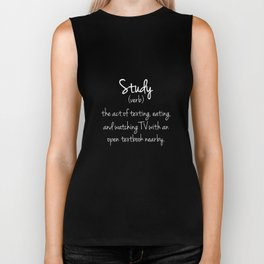 Study Dictionary Definition Funny T-shirt Biker Tank