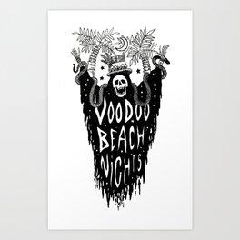 Voodoo Beach Nights Art Print
