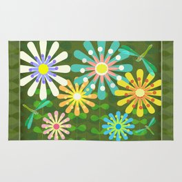 In The Garden Among The Flowers Rug