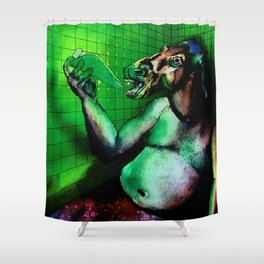 Good Horse the Bathtub Fiend Shower Curtain