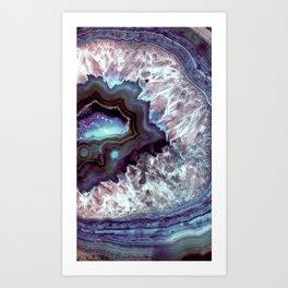 Ocean Blues Quartz Crystal Art Print