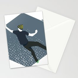 bouldering man Stationery Cards