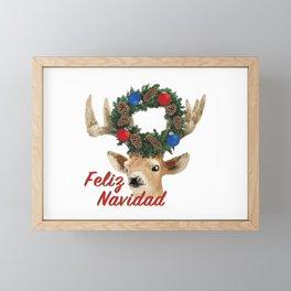 Feliz Navidad Spanish Merry Christmas Framed Mini Art Print