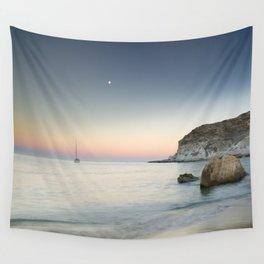 """SuperMoon in Plomo Beach"" Wall Tapestry"