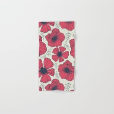 Raspberry Flowers Hand & Bath Towel
