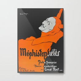 Mephistopheles Polka Francoise - 1890 Vintage Poster Reproduction for Wall Art, Prints, Posters, Tshirts, Men, Women, Youth Metal Print