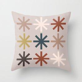 Snowflake 04 Throw Pillow