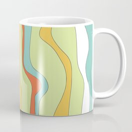 Curly lines of colour pattern Coffee Mug