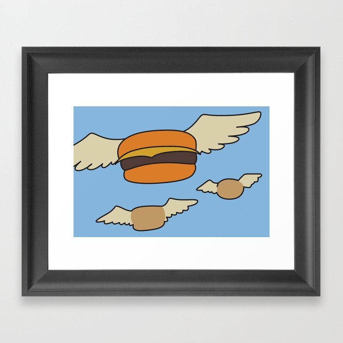 Bob's Burgers Flying Hamburger picture Gerahmter Kunstdruck
