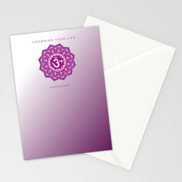 Y O G A for L I F E | Y O G A CORONAL CHAKRA | Y O G A mat CROWN CHAKRA Stationery Cards