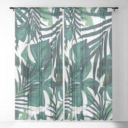 Tropical Jungle Leaves Pattern #1 #tropical #decor #art #society6 Sheer Curtain