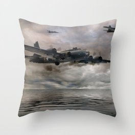 B-17 Flying Fortress - Almost Home Throw Pillow