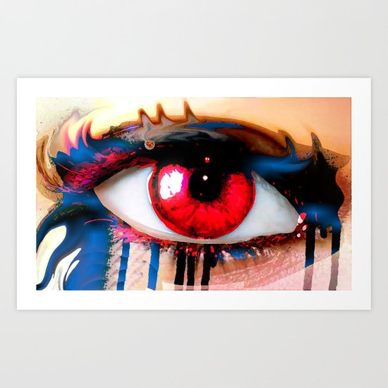 Window Of The Soul - Love Art Print