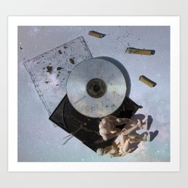Listening to Old CD Mixes with You Under the Stars Art Print