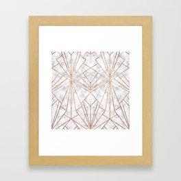 Art Deco Marble & Copper - Large Scale Framed Art Print