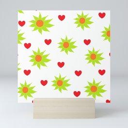 Scribble art - Abstract Art - Pattern Flowers - Pattern Hearts - Scribbles Mini Art Print