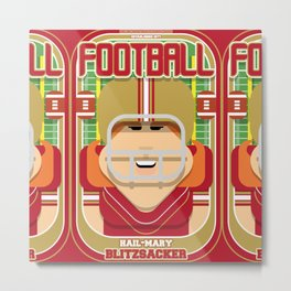 American Football Red and Gold - Hail-Mary Blitzsacker - Jacqui version Metal Print