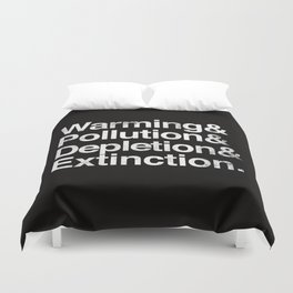 Ecology Issues Duvet Cover
