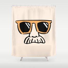 Too Cool (yellow orange) Shower Curtain