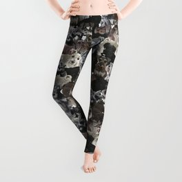 Schnauzer Collage Realistic Leggings