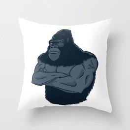 Grrr-illa Throw Pillow