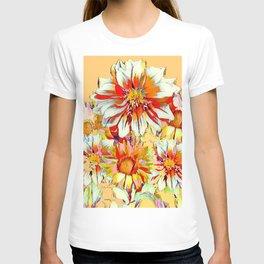 WHITE-RED FLOWER STILL LIFE CREAMY PASTELS T-shirt