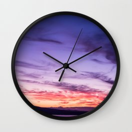Auckland Sunset Wall Clock