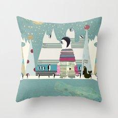 Arctic circle Throw Pillow