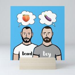 Beard Boy: Naughty Boys Mini Art Print